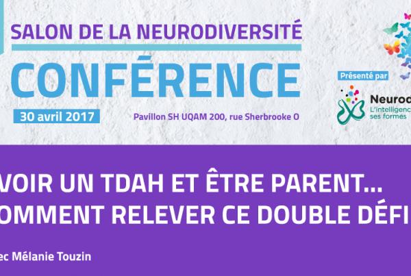 Conférence au salon de la Neurodiversité